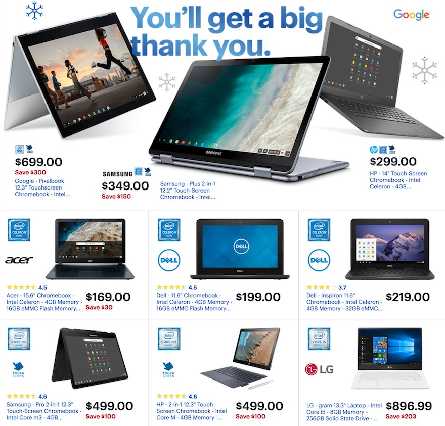 Black Friday Chromebook >> Chromebook Deals On Black Friday And Cyber Monday 2018