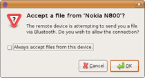 Ubuntu Bluetooth recieve