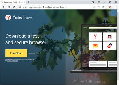 Yandex Browser on Ubuntu 19.04
